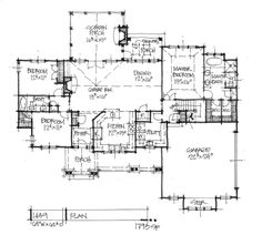 Home Plan 1439 - First Floor Plan