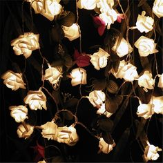 2017 Multicolor Decoración. la boda de Rose LED Batería Luces de Cadena de Decoración de Luces de Fiesta de Navidad de Cumpleaños Casamento