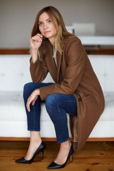 Tailored Coat - Camel Wool
