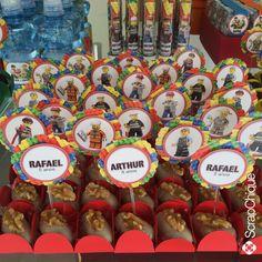 Festa Lego - Toppers para docinhos #scrapchique #lego #festalego #festameninos #toppers