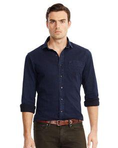 537c7523a4739 Indigo-Dyed Nigel Sport Shirt - Black Label Standard-Fit - RalphLauren.com