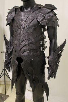I could totally see this as dragon rider armor! Drow Armor Preview by =Azmal on deviantART