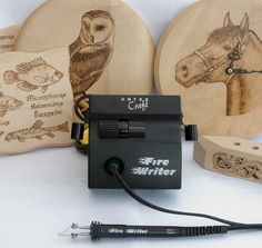 """This kit features a massive 10 amp power output to provide one of the fastest tip-heat recovery in the industry as well as an ideal wide-range temperature control from cool at (for foiling etc.) through to """"red-hot"""" at Wood Burning Tool, Hobbies For Men, Learn A New Skill, Pyrography, Wood Turning, Make And Sell, Usb Flash Drive, Writer, Carving"""