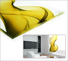 Digital ceramic printing on glass