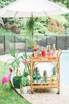 DIY Drink Station - Pinterest Predicts 2017's Top Wedding Decor - Photos
