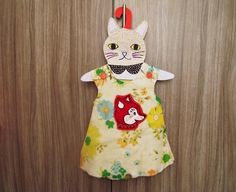 Llevo el invierno: Cat lovers.... handmade hangers for kids, D.I.Y. !