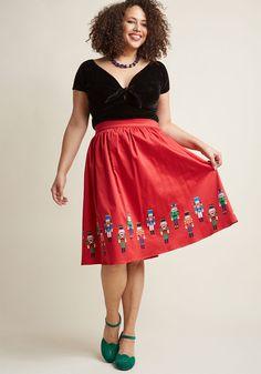 1d14b9852ee45 High-Waisted A-Line Skirt in Nutcrackers
