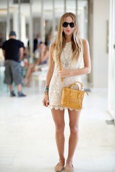 Juicy Couture dress Tom Binns bracelet Céline bag