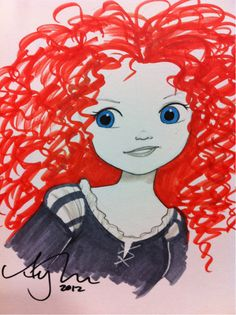 Merida. Charity sketch from #SDCC for the Cystic Fibrosis foundation.