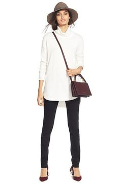 Chelsea28 Sweater & Paige Denim Skinny Jeans available at #Nordstrom
