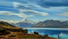 The Road To Mount Cook Along Lake Pukaki #plotagraph New Zealand #lakepukaki NZ_lakes