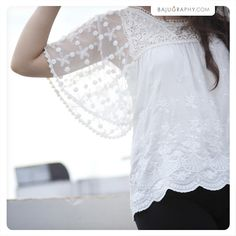Purity Lace Top (RM 49) - Soft cotton lace that reminds us of that perfect first picnic date on the grass in the gentle summer breeze.. top fits UK 6 - 10