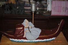 True Vintage Chalkware Gondola Working Lamp