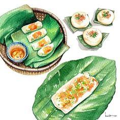 Bánh bột lọc, Bánh ít trần và Bánh Nậm, những món ăn đậm đà hương vị xứ cố đô Huế. Banh Bot Loc, Banh It Tran and Banh Nam, there are food of Hue's style (Hue in central Vietnam) #vietnammienngon #vietnamdelicious #vietnam #food #vietnamillustrationartbook #illustrationartbook #artbook #art #artist #youngartist #saigon #hue #centralvietnam #illustration #illustrator #foodillustration #instaart #instafood #vietnamfood @lerin_illustration #enjoy #eat #streetfood #vietnamstreetfood Illustrated…