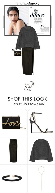 """""""Not-So-Basic: Black Chokers"""" by mariotsala22 ❤ liked on Polyvore featuring Lanvin, Jimmy Choo, Mor, Anja, Sally Lapointe, Elizabeth and James, Eddie Borgo, women's clothing, women and female"""