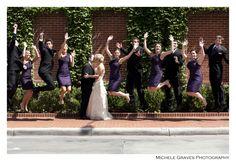 Fun wedding party shot