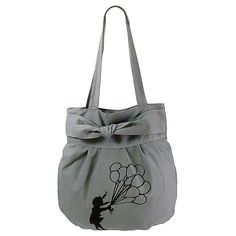 """Canvas Tote with Bow Fastening and 'Windy"""" print All Gifts, Printed Bags, Online Gifts, Bucket Bag, Abs, Canvas, Prints, Collection, Fashion"""