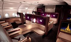 Both first class and business class guests are offered an on-demand, á la carte menu which...