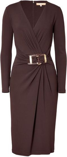 MICHAEL KORS Chocolate Belted Dress