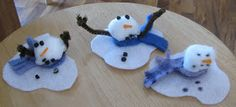 See what we did today: Melty the Snowman!