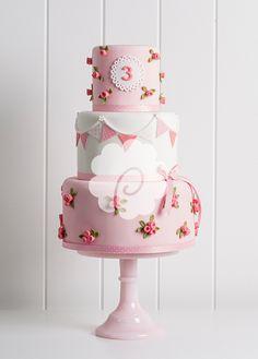 Rosey Bunting Cake