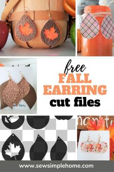 Diy Leather Earrings, Diy Earrings, Leather Jewelry, Leather Projects, Leather Crafts, How To Make Leather, Fall Sewing, Making Hair Bows, Homemade Jewelry