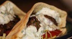 Gyro Meat Sandwich Filling with Tzatziki (Satziki) Sauce