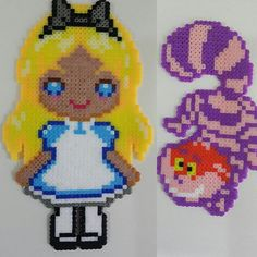 Alice in Wonderland perler beads by brunoslira