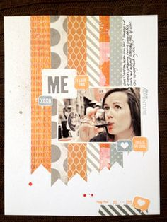 #papercraft #Scrapbook #layout.  me by CaKee at Studio Calico