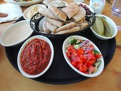 Hummus Platter from Farmhouse Cafe and Eatery in Cresskill, NJ