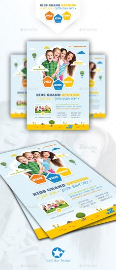 Kids Store Flyer Template PSD, InDesign INDD. Download here: http://graphicriver.net/item/kids-store-flyer-templates/15819073?ref=ksioks