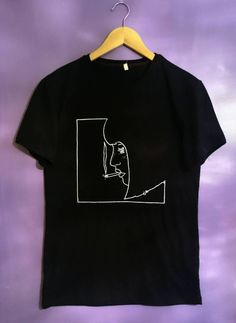 Custom Black Smoking Girl t Shirt by SolukWorkshop on Etsy