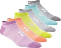 Supportive and moisture-wicking, Under Armour's Women's No-Show Liner Socks are perfect for your active lifestyle. Flat-knit footbeds reduce and conform to your feet, while embedded arch supports fight foot fatigue during your longest days. ArmourDry™ material wicks away moisture and accelerates evaporation to ensure you stay feeling fresh and dry from sun up to sun down.