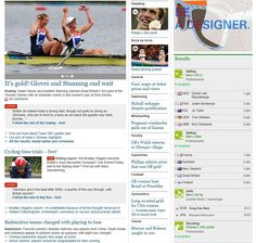 319 - The newspaper has chosen to highlight Team GB's gold medal success. The picture and article is placed in the top left hand corner of the page. Its size is comparatively bigger to other images. The image of Michael Phelps is on the same eye level, suggesting his feat is still of great significance. As the attached article to this story is an analysis and not a report, it's not represented as a top story. The Brick-by-Brick feature appeared yesterday but, oddly, is now higher up the page.