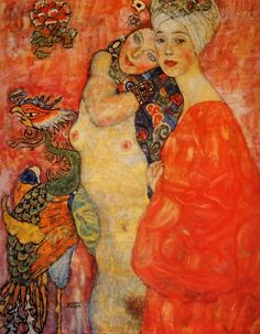 Gustav Klimt,,i read somewhere that this painting was burned and destroyed in the world war., like so many pieces of art
