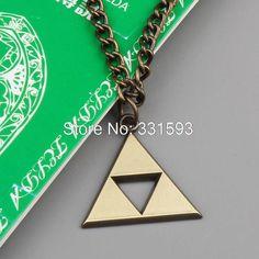 Livraison gratuite de détail 1 pcs Anime jeu The Legend of Zelda la Triforce Zelda Triforce colliers de mode métal Figures pendentif dans Colliers de chaînes de Bijoux sur AliExpress.com   Alibaba Group