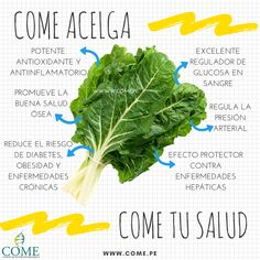 Beneficios de comer #Acelga #COMEtusalud