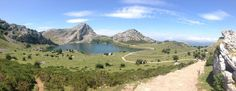 View from the Lagos de Covadonga Asturias Spain. Two mountain lakes at 1100m in the Picos de Europa mountain range. One stage of the Vuelta a Espana cycle race ends with a climb up to here! (We took the bus.) http://ift.tt/2Fxg0Eg