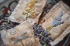 How-to Embroidered tea bag lavender sachets using tea bags