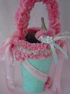 French Easter Pail by Sophie Rose Designs, via Flickr