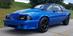 1990 Mustang LX 5.0 Hatchback 93 Mustang, Blue Mustang, Fox Body Mustang, Mustang Cars, Sexy Cars, Hot Rods, Dream Cars, Ford, Muscle