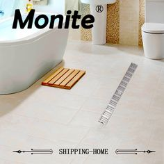 buy luxury bathroom drains rectangle type 304 stainless steel bathroom linear shower floor drain #linear #shower #drains