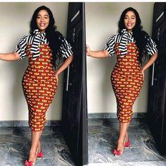 ankara gowns for church African Wear, African Attire, African Women, African Dress, African Style, African Clothes, Trendy Ankara Styles, Ankara Gown Styles, Ankara Gowns