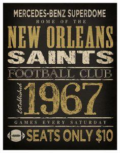 New Orleans Saints Print