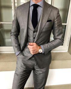 Men's Gray Fomal Slim Fit Tuxedo Suit Wedding Suit Dinner Business Custom Grey Slim Fit Suit, Slim Fit Tuxedo, Tuxedo Suit, Tuxedo For Men, Grey Suit Men, Mens Charcoal Suit, Gray Suits, Black Suits, Wedding Men