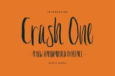 Crash One Typeface is a unique and trendy brush font. This font will look awesome on all your branding materials, logo's, cards, quotes, and any projects. Best Free Handwritten Fonts, Handwritten Script Font, Free Web Design, Free Typeface, Logo Design, Graphic Design, Commercial Fonts, Hand Drawn Fonts, Pretty Fonts