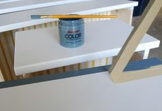How to paint laminate furniture without sanding. I know I'll be thankful I posted this someday!