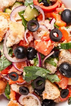 This Tuscan bread salad is a wonderful summer appetizer because there is no cooking involved. Make this tasty, colorful Tuscan starter with Italian bread.