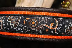 Handmade Martingale Leather Dog Collar MYSTIC by by dogsartcollars