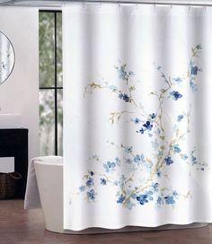 Tahari Fabric Shower Curtain Gray Words Writing On White Shower - Shower curtain with words